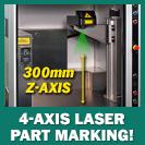 Image - Versatile 4-Axis, Class 1 Fiber Laser Part Marking Systems